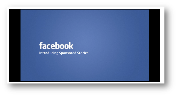 Video Facebook Sponsored Stories